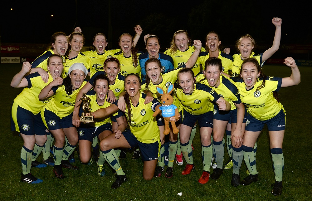 Sion Swifts Celebrate with Player of the Match Kendra McMullan (003).jpg