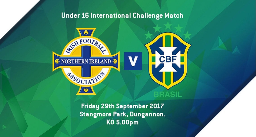 Northern Ireland U16s to play Brazil in Dungannon on