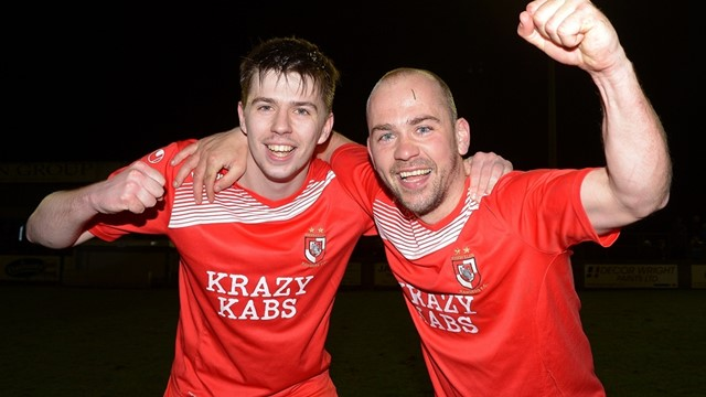 Enniskillen Rangers scorers Ciaran Smith and Michael Kerr.jpg