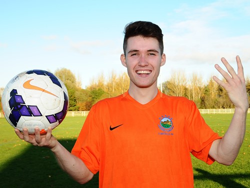 youth cup - 2nd round - image gallery 4 Goal Hero and Man of Match Paul Smith with Match Ball.jpeg