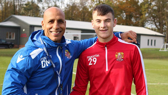 Under-19 striker signs professional contract with Stevenage | IFA