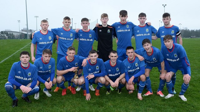 Linfield Rangers squad with man of the match Ethan Wayne.jpg