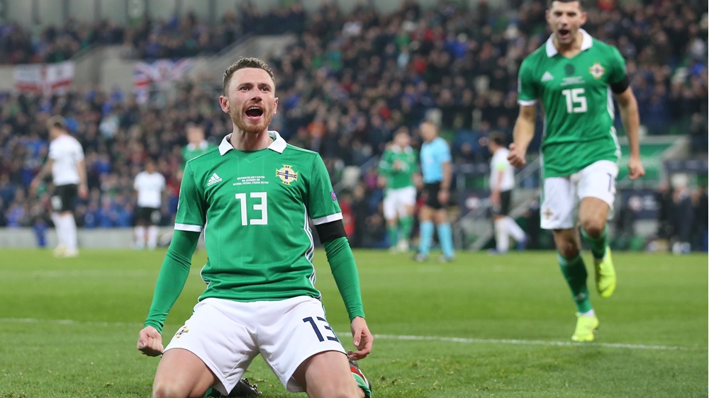 Image result for corry evans michael o'neill northern ireland 2019