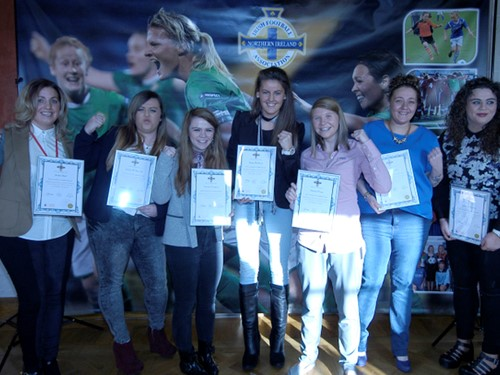 Female Football Leaders graduates Jan 15