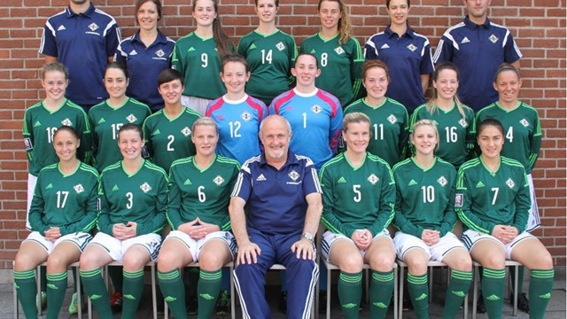 NI senior women pre Poland - sept 2014