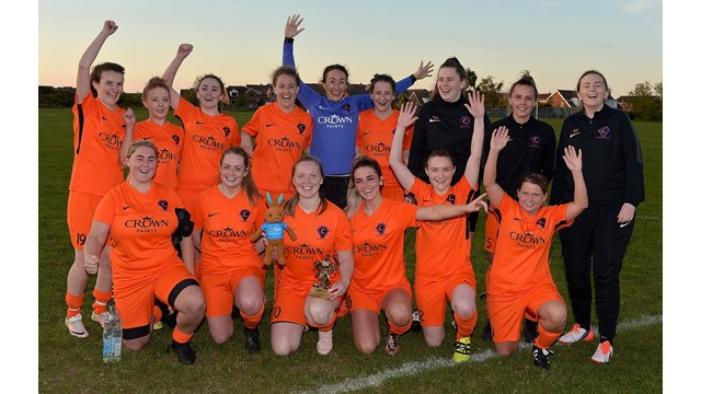 Carnmoney Ladies celebrate their 7-0 victory.jpg