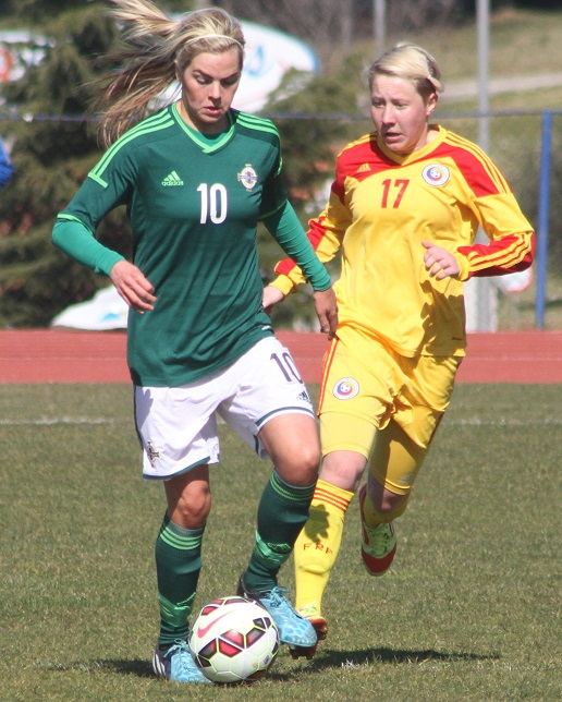 Aoife Lennon NI Women vs Romania 6.3.15