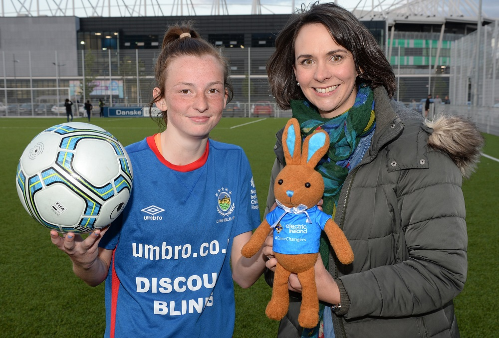 Player of Match Caitlin McGuinness with Anne Smyth of Electric Ireland.jpg