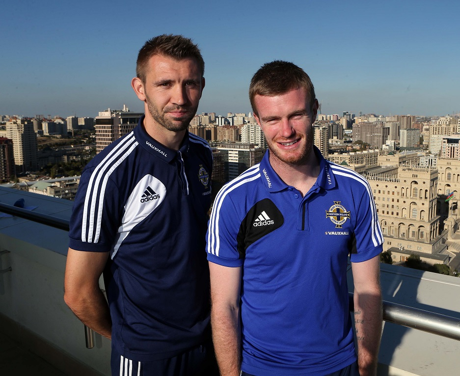 Gareth McAuley and Chris Brunt
