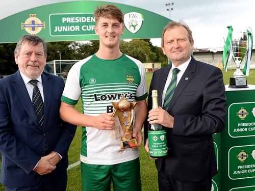 Donal Conway and David Martin with man of the match Shane Ryan.jpg