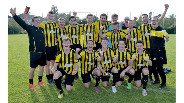 Caledon Rovers celebrate their 3-2 victory over Tullymore Swifts.jpg