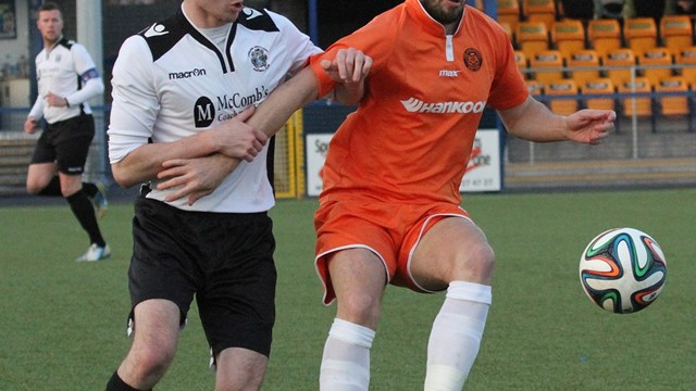 Intermediate Cup semi-finals 2014/15 - Carrick Rangers v. Lisburn Distillery