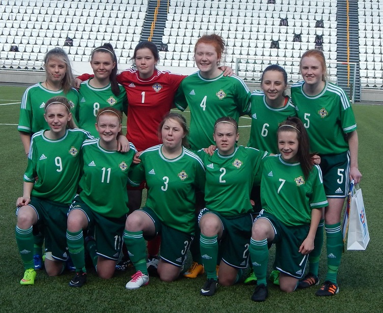 Northern Ireland Under 16 Girls Development squad April 2015