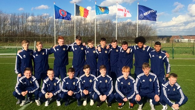 Northern Ireland U15 squad May 2015