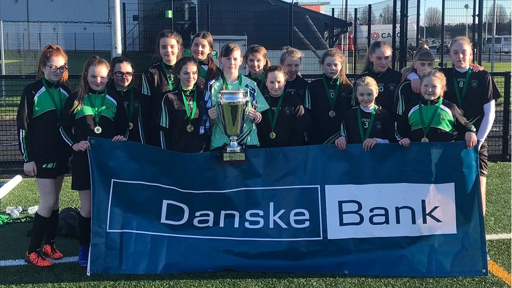 Girls' teams from schools across Northern Ireland pr...