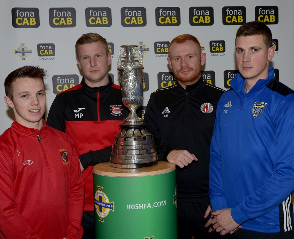 James Turley (Enniskillen Rangers) Mark Patton (Bessbrook United) Eamon Hughes (Willowbank) and Nigel Beacom (NFC Kesh) (002).jpg