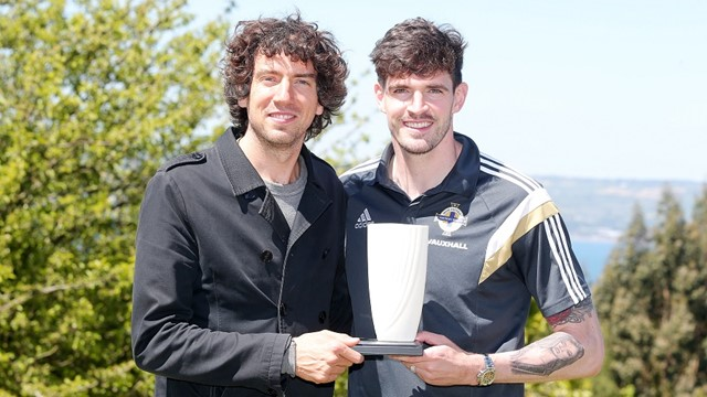 Gary Lightbody Kyle Lafferty June 2015