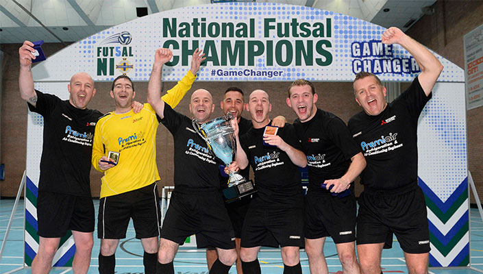 cb751c237c Foyle Futsal Club have been crowned National Futsal League Champions for  2016 after victory by one goal over Sparta Belfast in a pulsating game at  Lagan ...